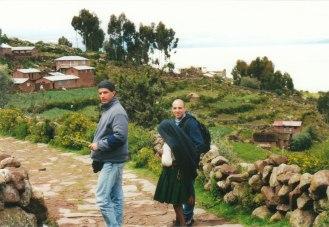 Bolivya ile Peru sınırındaki Titicaca Gölü'nde Dr. Musa Aner'le