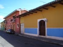 Nikaragua'da Granada şehri sokakları